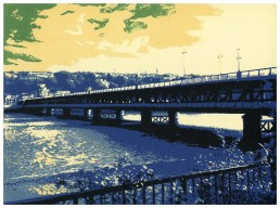 Derry, Craigavon Bridge, Lino Cut Prints, Matthew Braithwaite