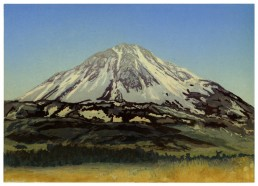 Mount Errigal, Lino Cut Print, Matthew Braithwaite Prints