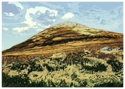 Mount Errigal, Lino Cut Print, Matthew Braithwaite Prints